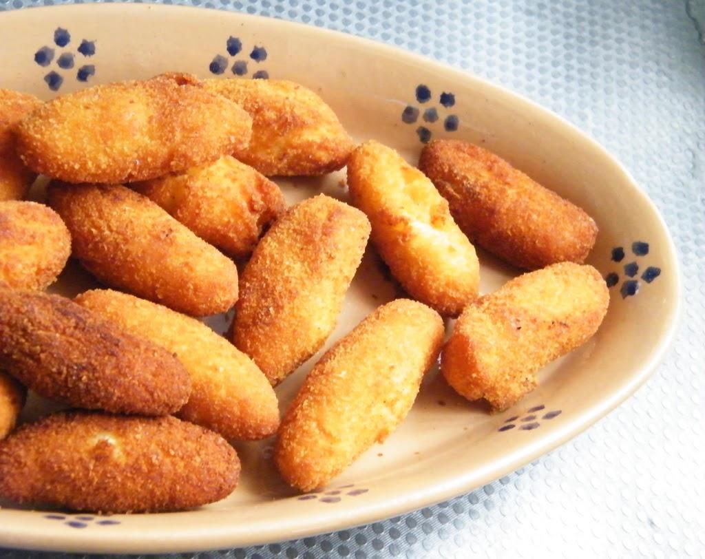 Croquettes di patate con cuore di mozzarella
