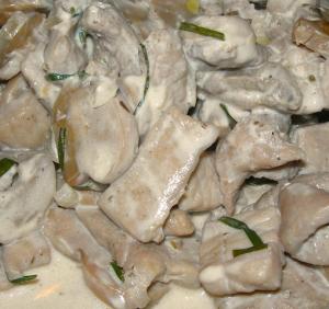 Straccetti di maiale ai funghi porcini