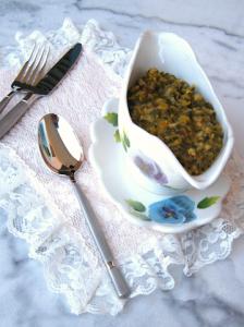Zuppa di farro e piselli