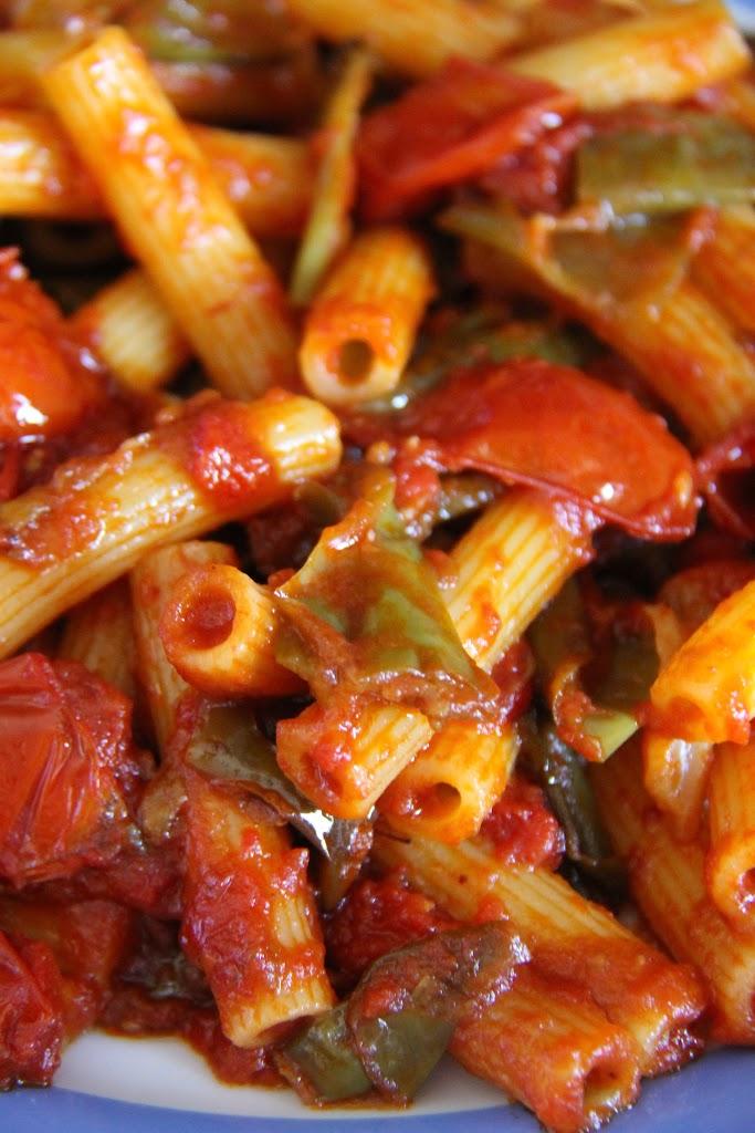 Sugo di peperoni friggitelli e pomodorini
