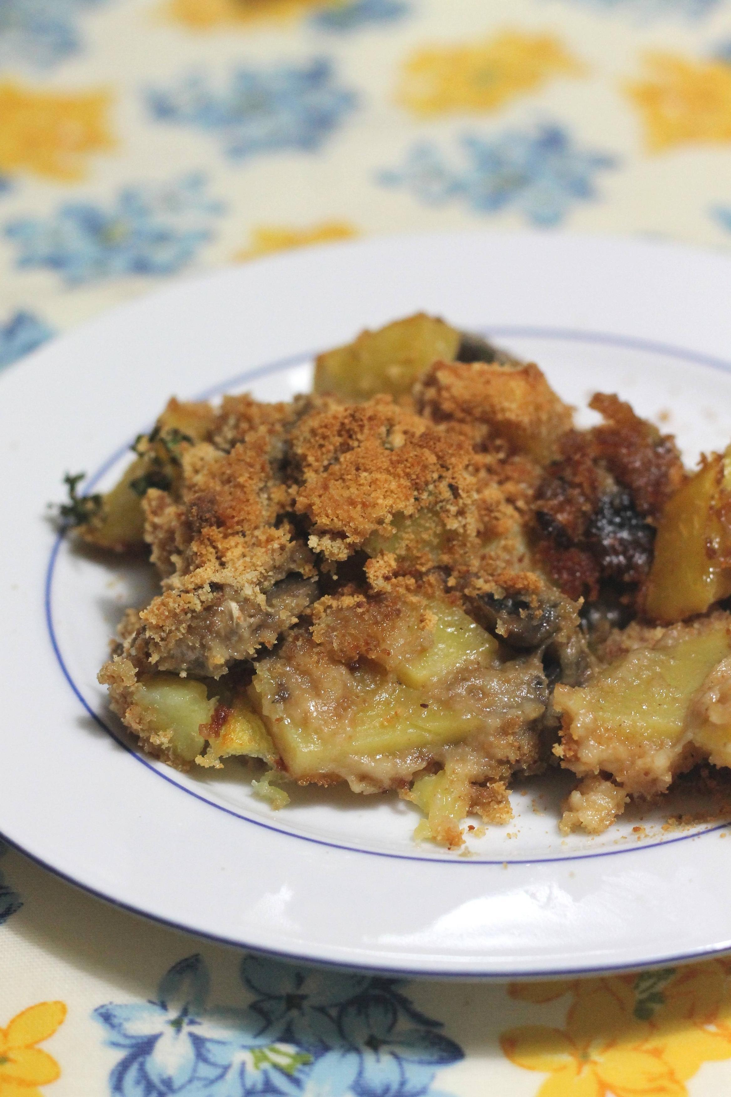 0HJzF Funghi e patate al gratin