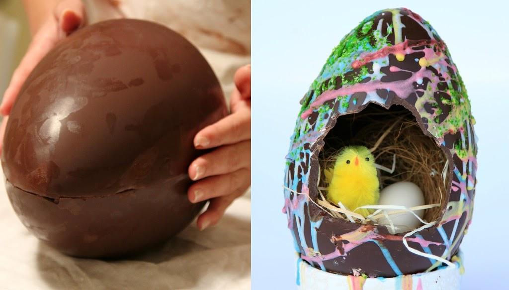 Uovo di cioccolato per Pasqua fatto in casa