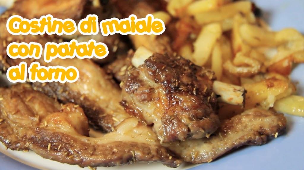 costine di maiale con patate al forno