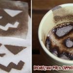Decorazioni per il cappuccino di Halloween
