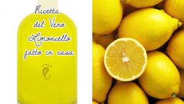 ricetta del vero limoncello fatto in casa