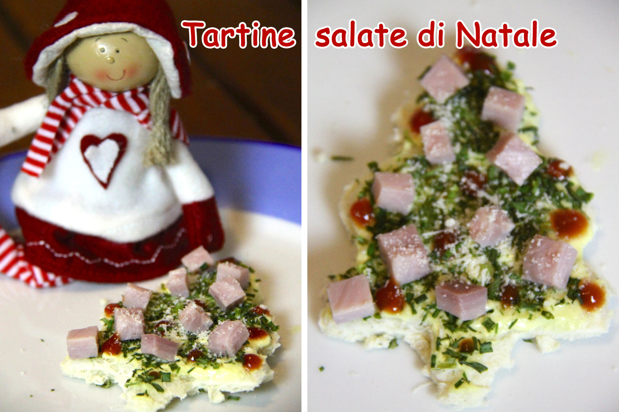 tartine salate di Natale