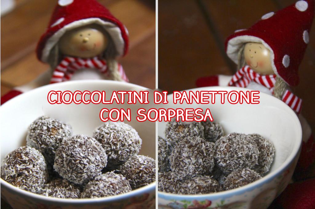 Cioccolatini di panettone con sorpresa