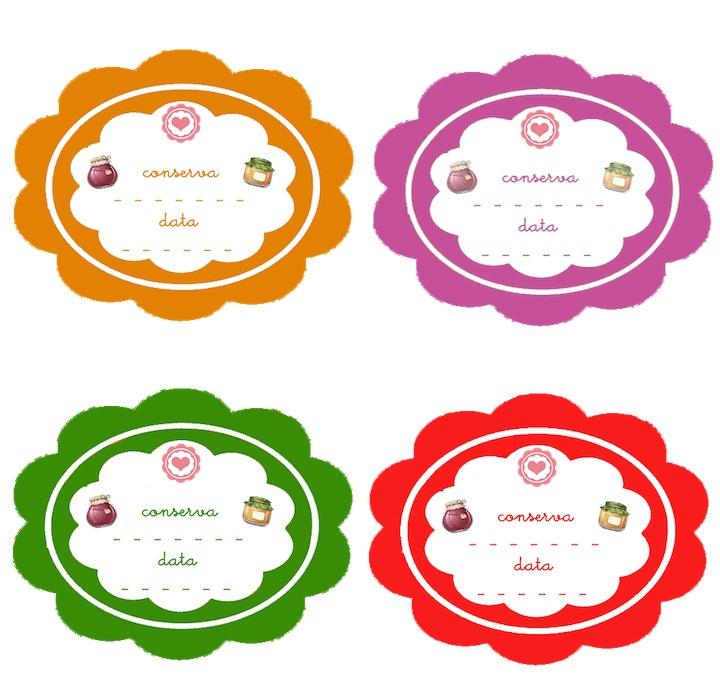 Etichette per conserve stampabili