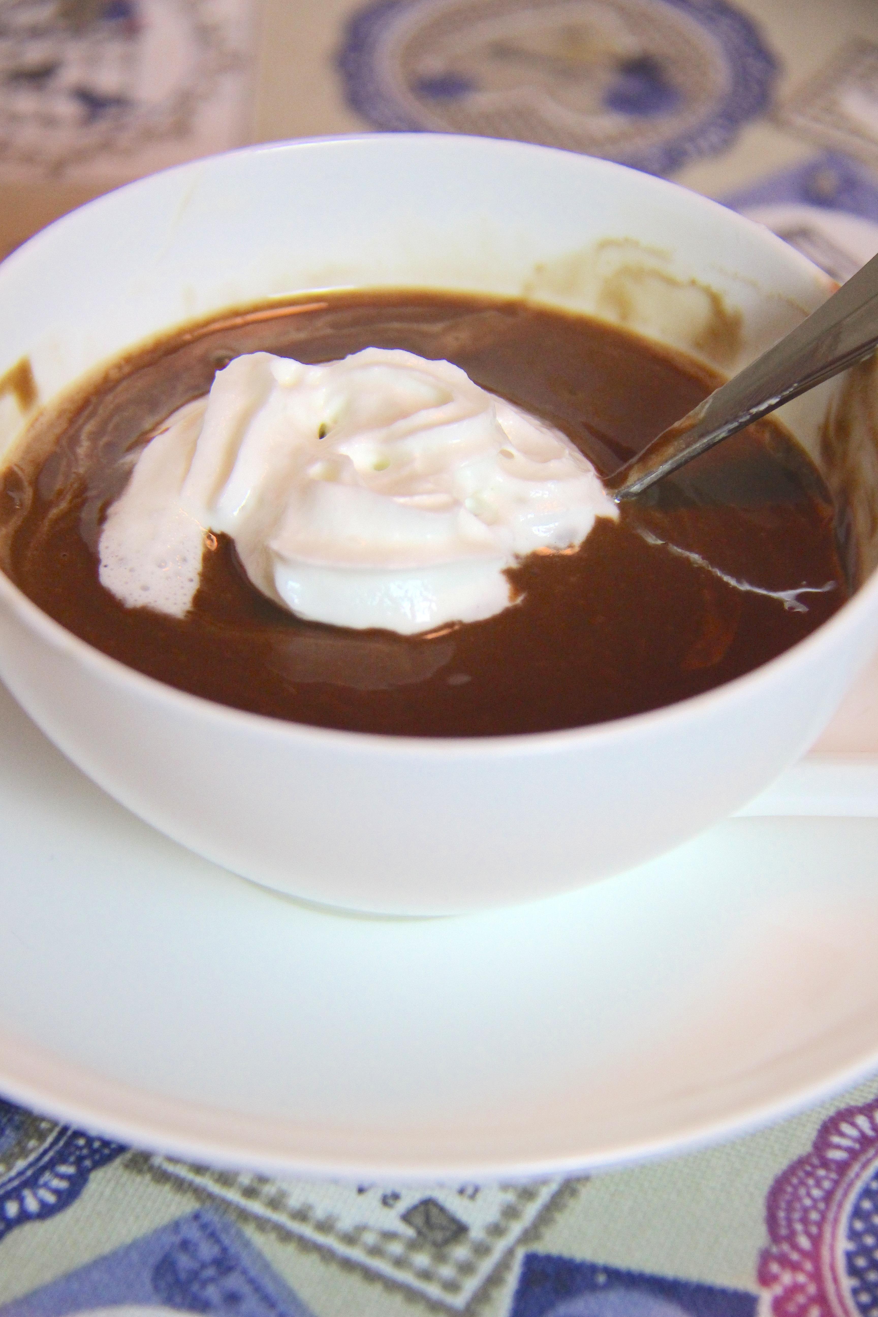 Cioccolata calda in tazza tipo Ciobar
