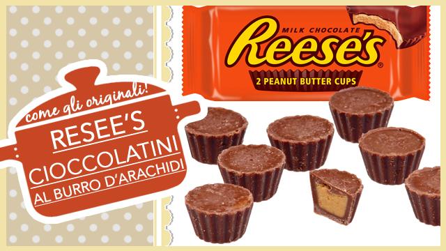 REESE'S cioccolatini al burro d'arachidi come gli originali americani