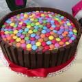 Torta Smarties con crema alla Nutella