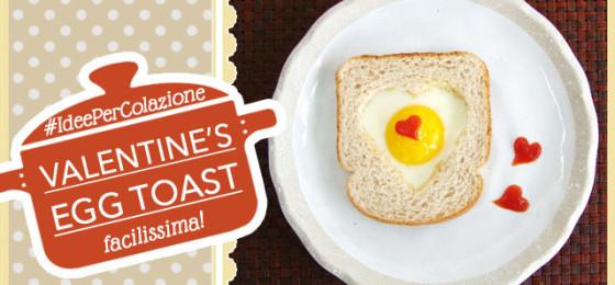 Valentine's Heart Egg Toast