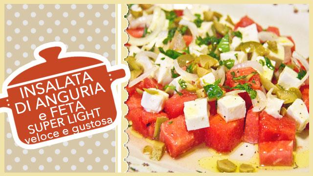 INSALATA DI ANGURIA | ricetta SUPER LIGHT veloce e gustosa