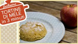 TORTINE DI MELE IN 3 MINUTI (compresa la cottura)