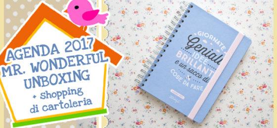 AGENDA 2017 MR. WONDERFUL UNBOXING + shopping di cartoleria