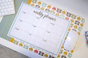 Agenda settimanale stampabile weekly planner printable for Planner cucina gratis