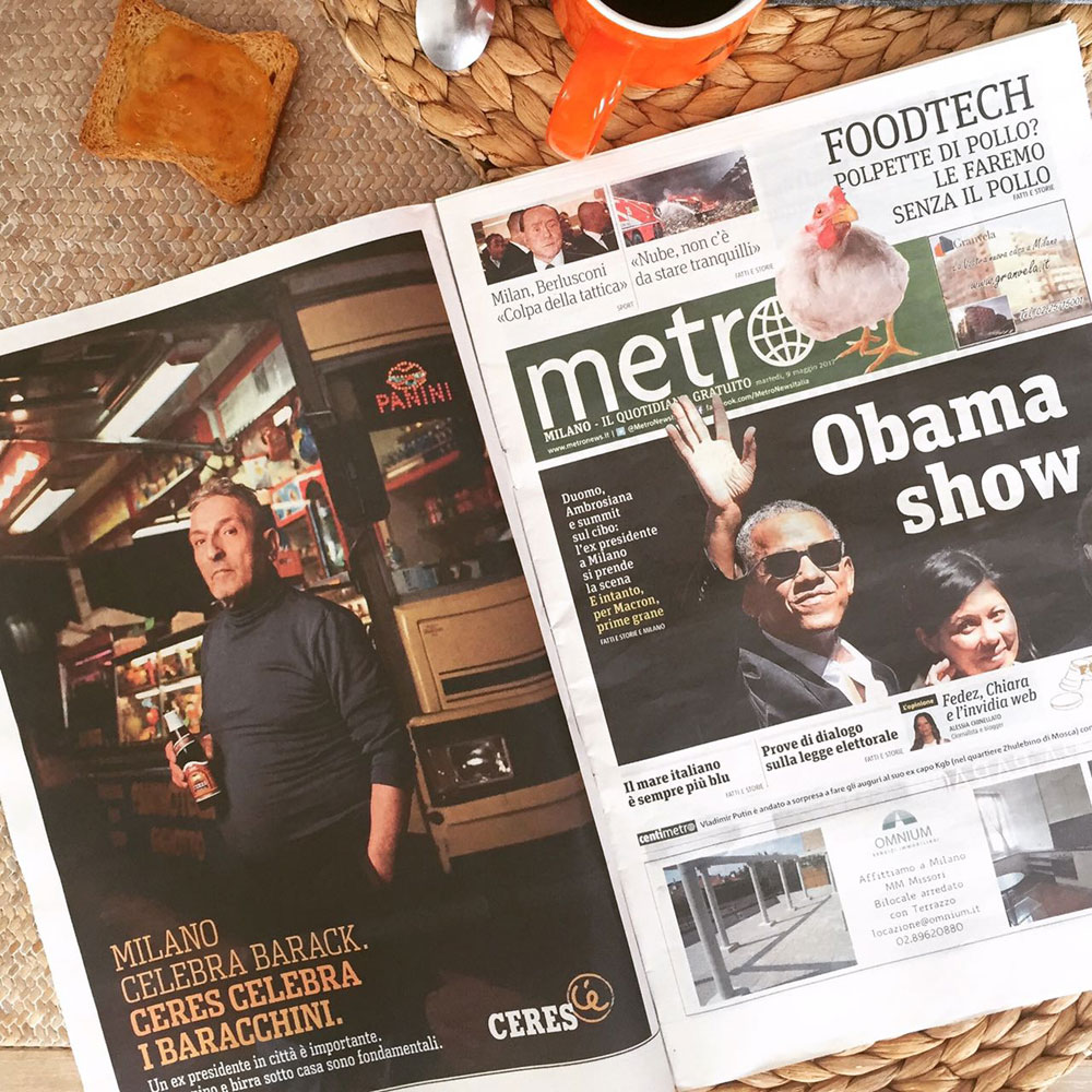 Milano celebra Barack Obama e Ceres celebra i baracchini