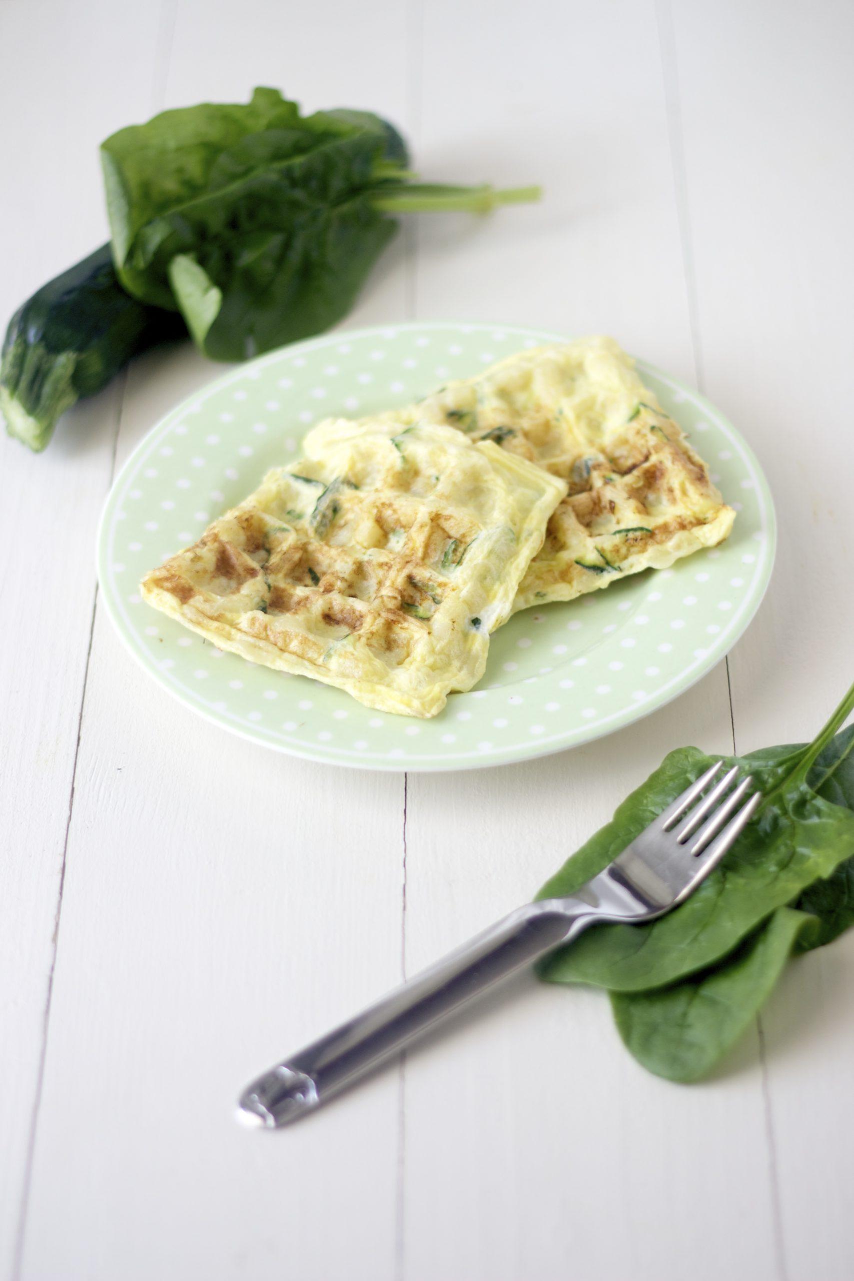 WAFFLE DI PASTA con spinaci | ricetta per bambini